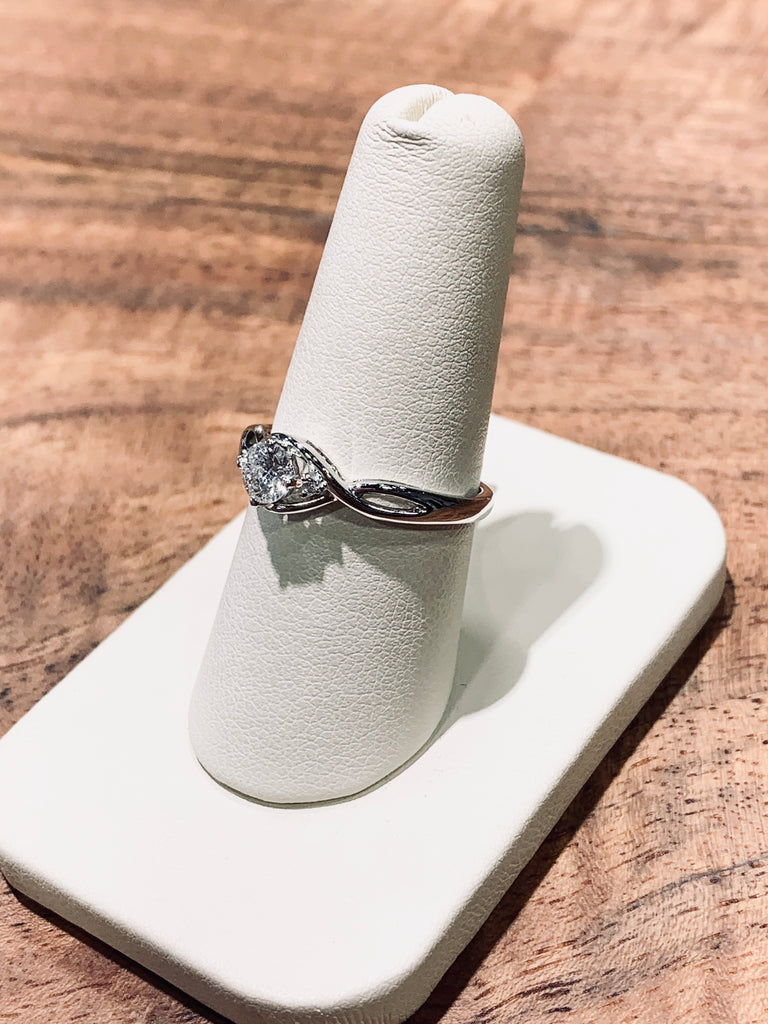 Infinity Twist Diamond Engagement Ring - TVJGNV