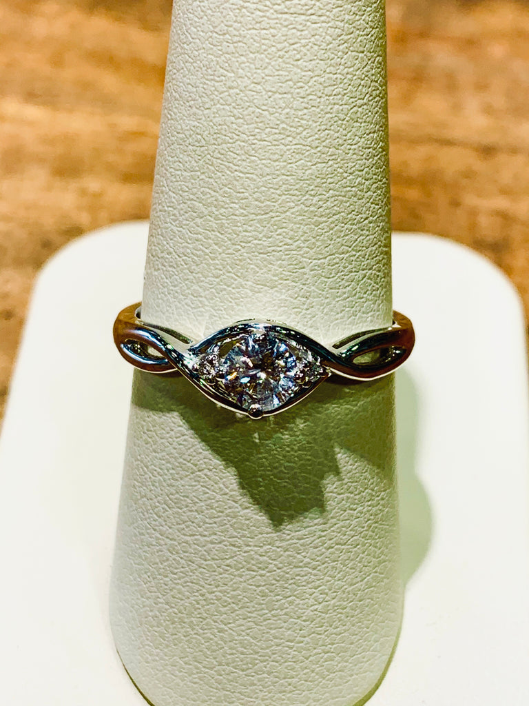 14K Infinity Style Diamond Engagement Ring - THE VILLAGE JEWELER