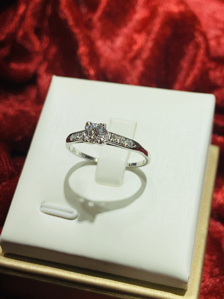 Vintage Channel-Set Diamond Ring