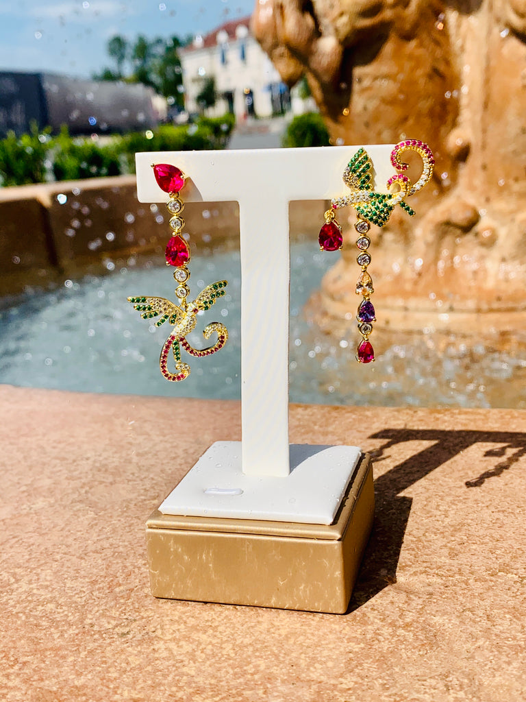 Birds of Paradise Earrings - TVJGNV