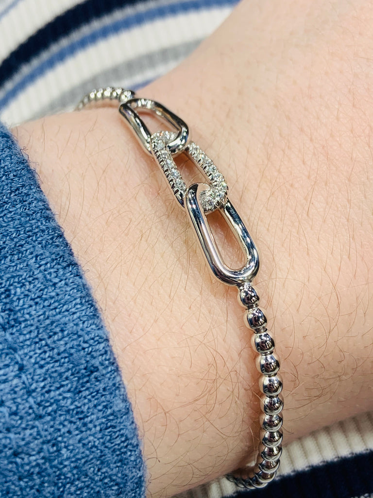 Stretchy Diamond Chain Link Bracelet - TVJGNV