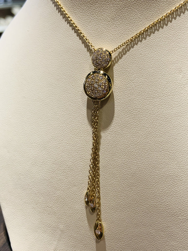 Intricate Lariat Diamond Necklace - TVJGNV