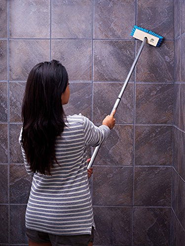 Tub & Shower E-Z Scrubber Heavy Duty Scrub Brush & Telescopic Handle