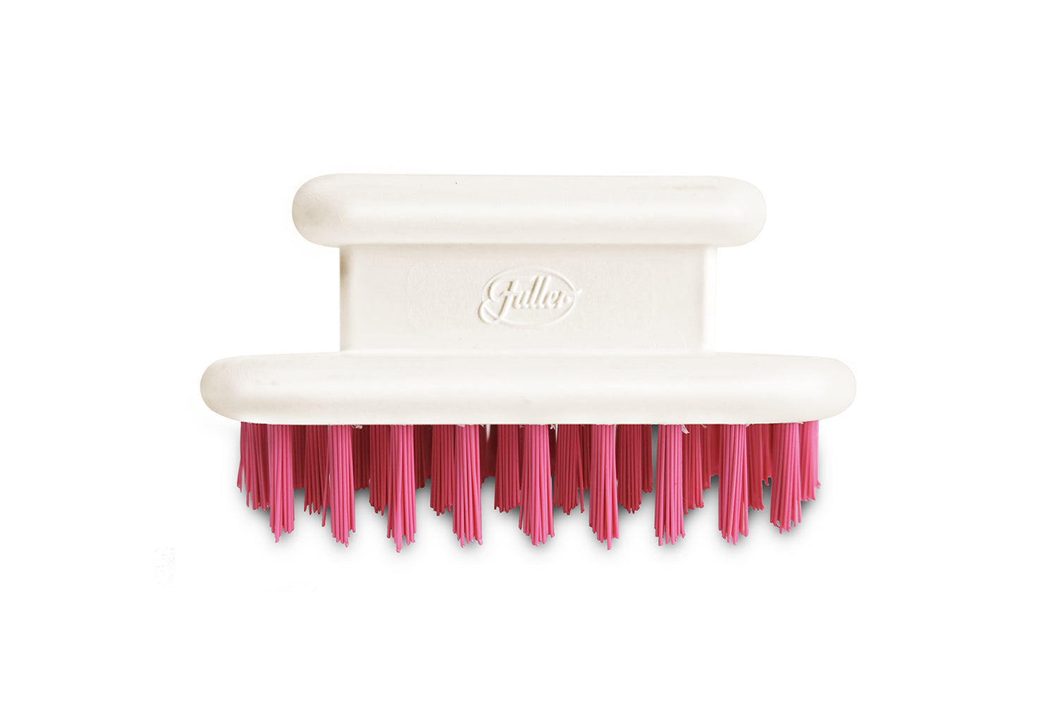 Pretty & Pink Compact Veggie Brush -  Durable Polyester Bristles