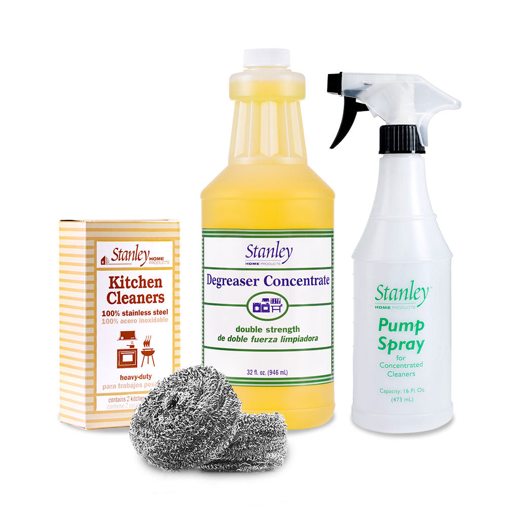 Degreaser Concentrate + Stanley Spray Bottle + Stainless Steel Scrubbies