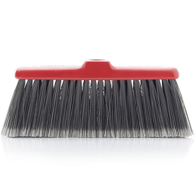 Fiesta Red Heavy Duty Long Bristle Broom Head - Fine Bristles Floor Sweeper