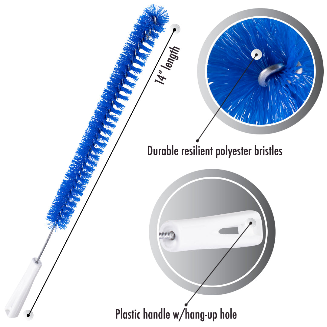 Drain Cleaner Brush - Flexible Thin Long Brush For Clog Free Sinks, Bathtubs & Shower Drains