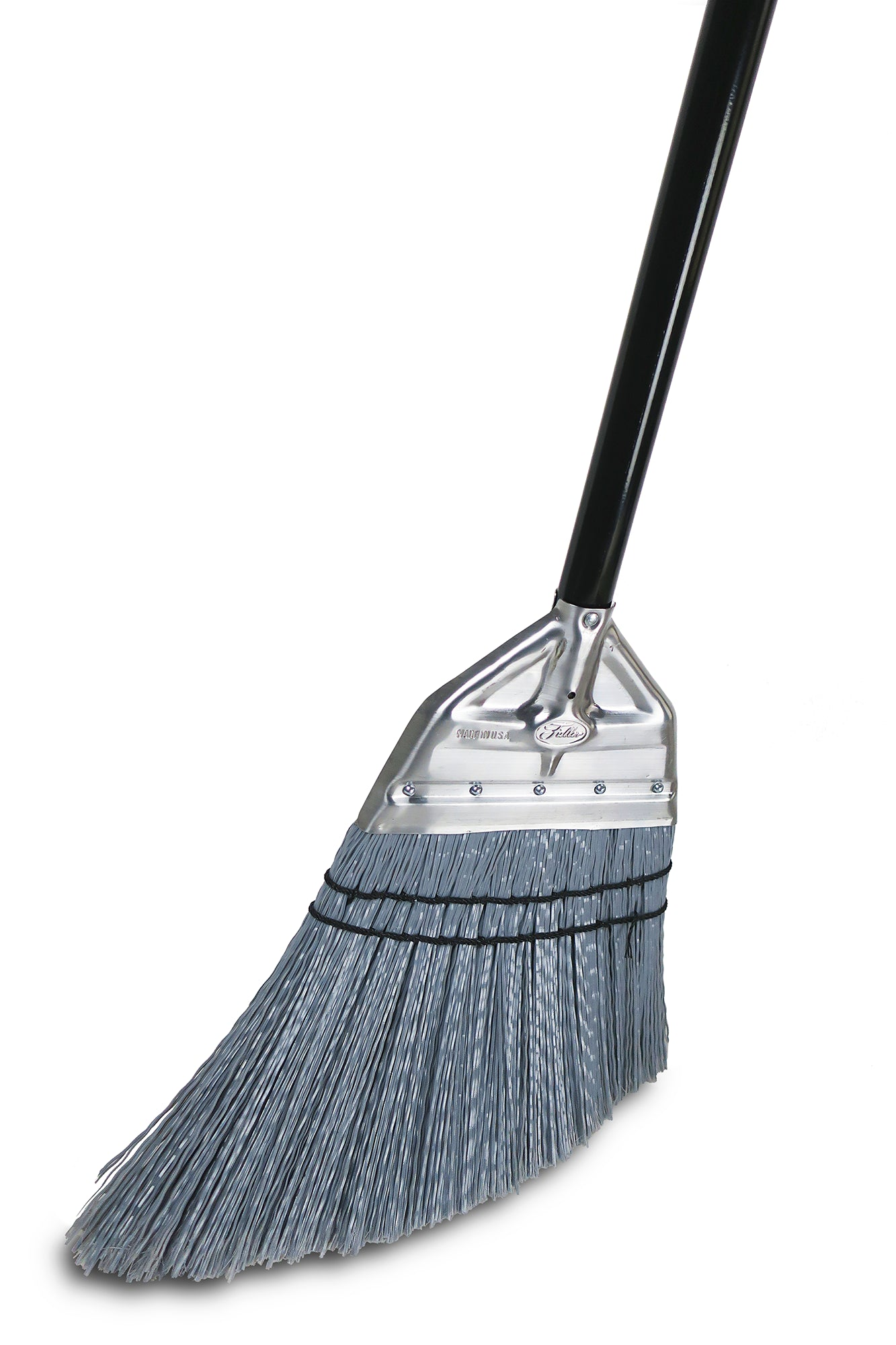 "House of Fuller® Angle Broom Complete – 9 1/2"" Sweeping Path -  Indoor & Outdoor Use"