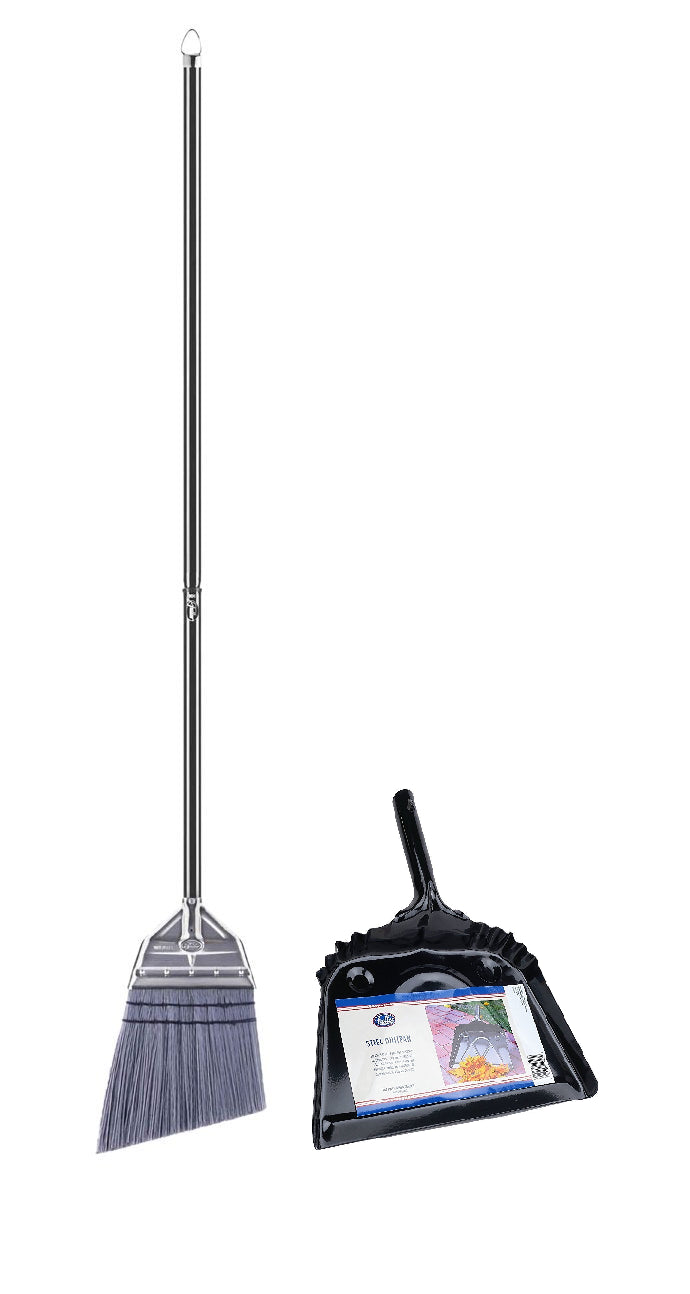 Angle Broom With Metal Dustpan