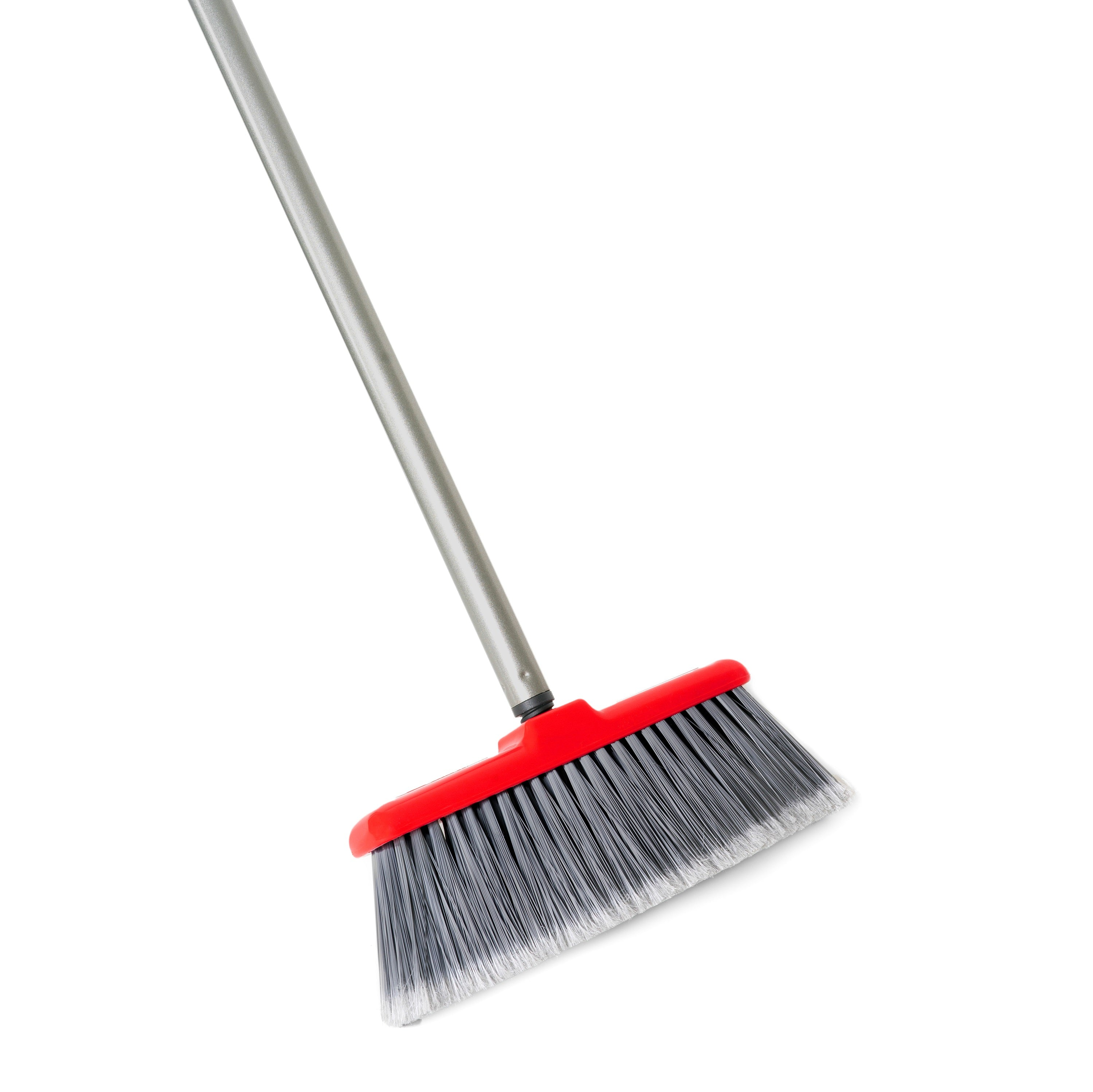Fiesta Red Heavy Duty Long Bristle Broom - Fine Bristles Floor Sweeper