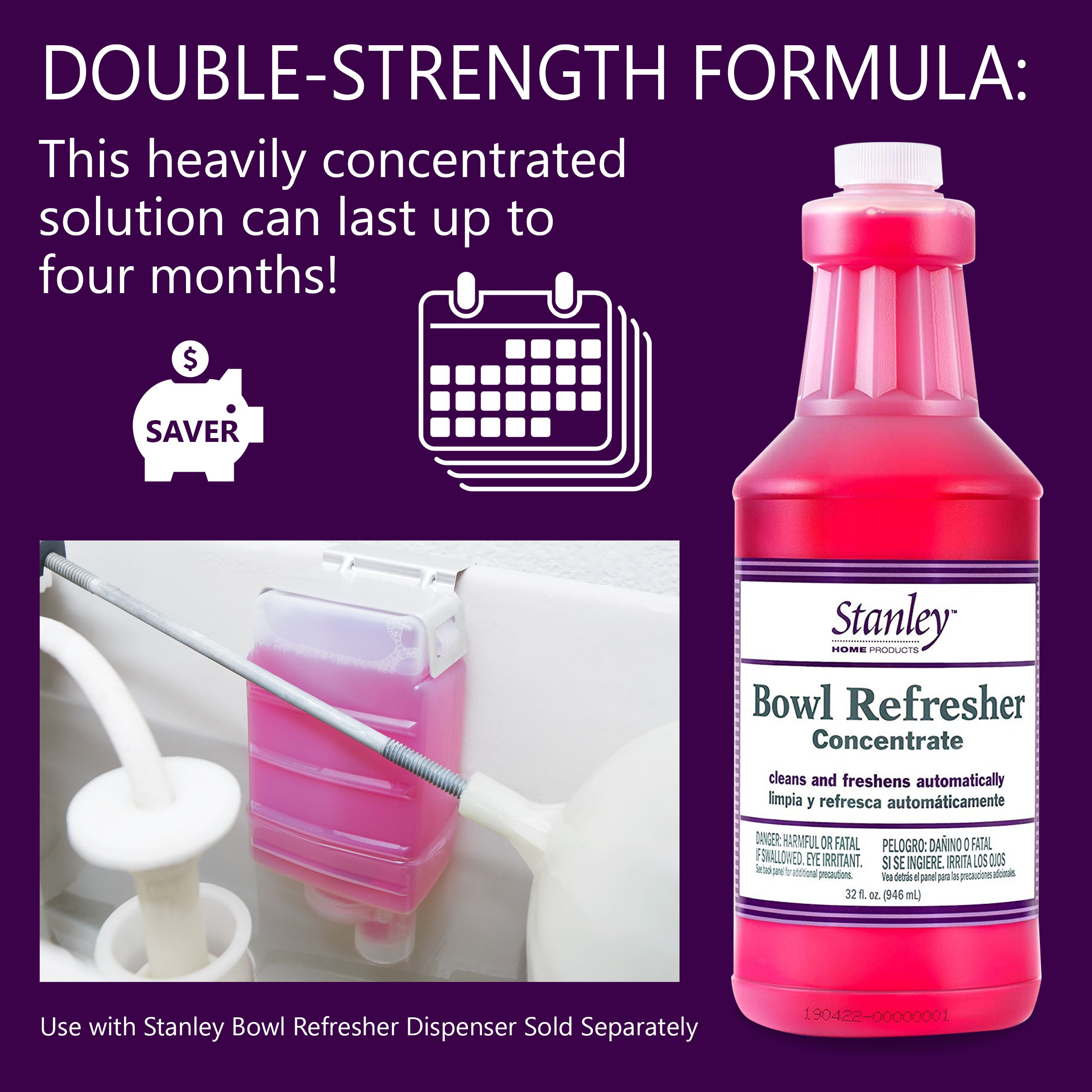 Toilet Cleaner & Deodorizer, Bowl Refresher Concentrate