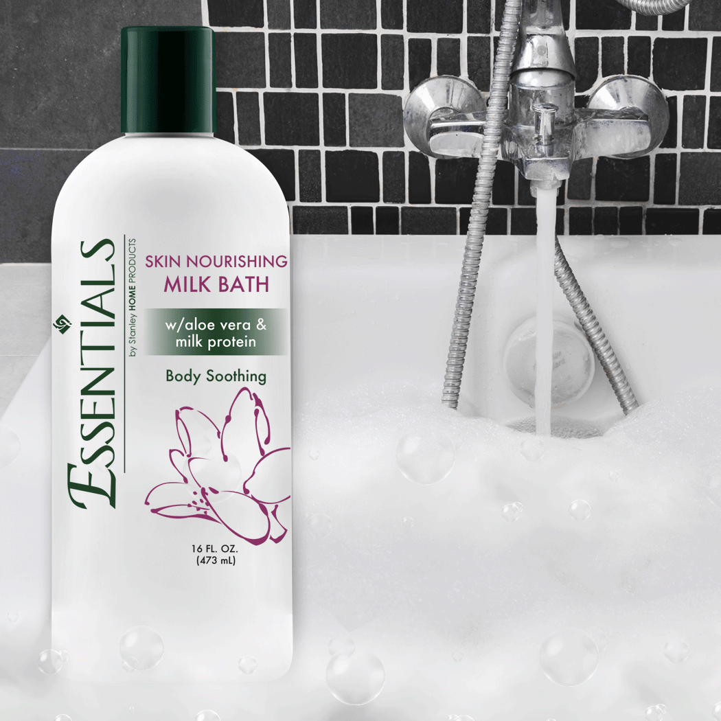 Essentials Skin Nourishing Milk Bath w/ Aloe Vera & Milk Protein 16 oz.