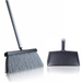 Black Slender Broom & Dustpan Set - Indoor Broom w/ Clip-on
