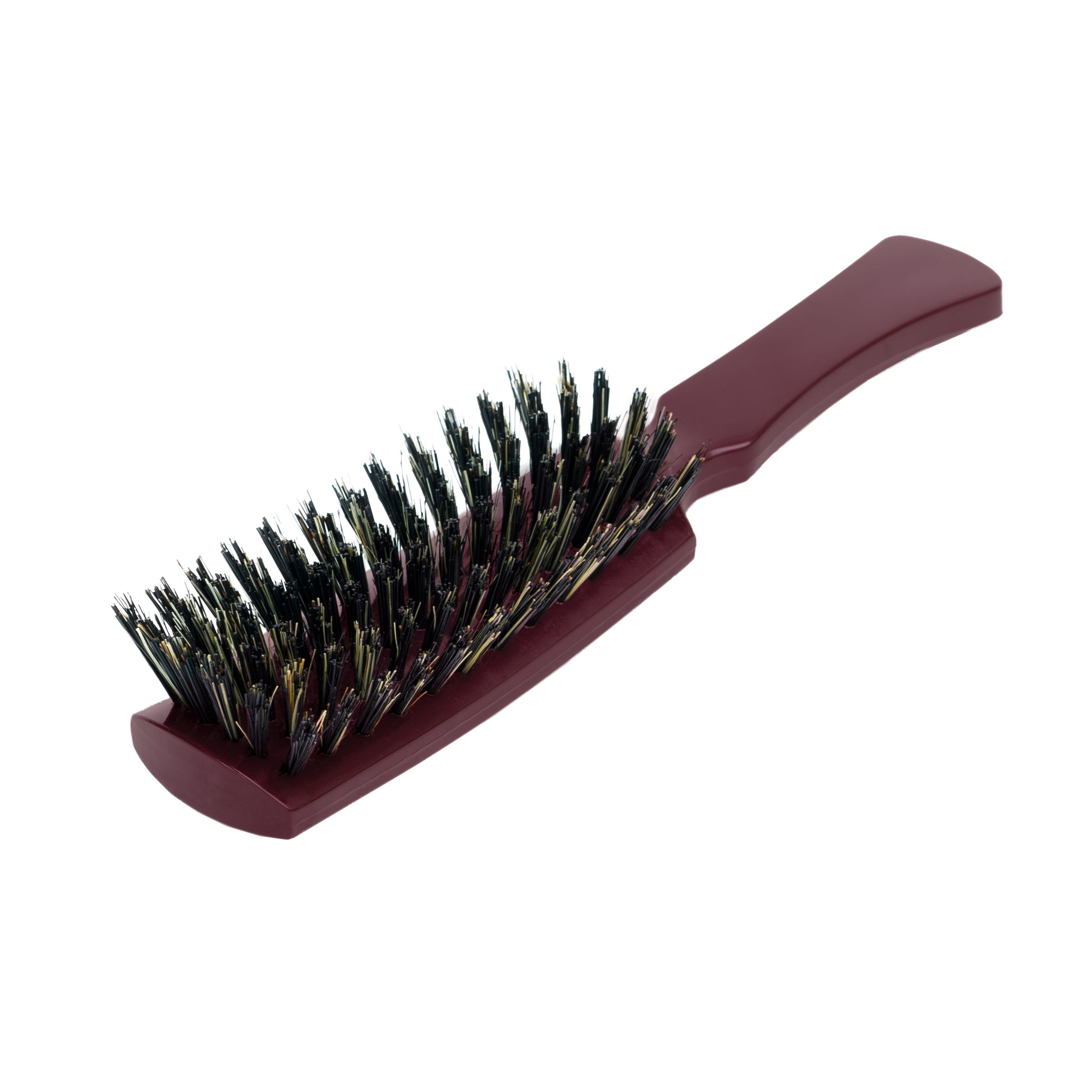 Nylon and Boar Bristle Professional Styling Hairbrush for all hair types - Mulberry Color