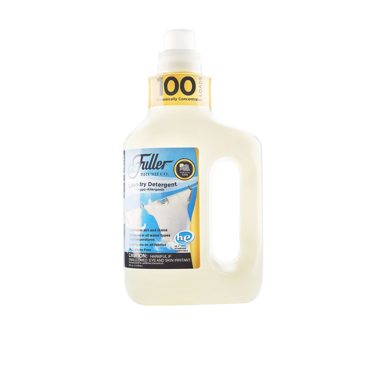 Fuller 100 Laundry Concentrated Detergent Hypoallergenic-Dye and Fragrance Free  50 Oz