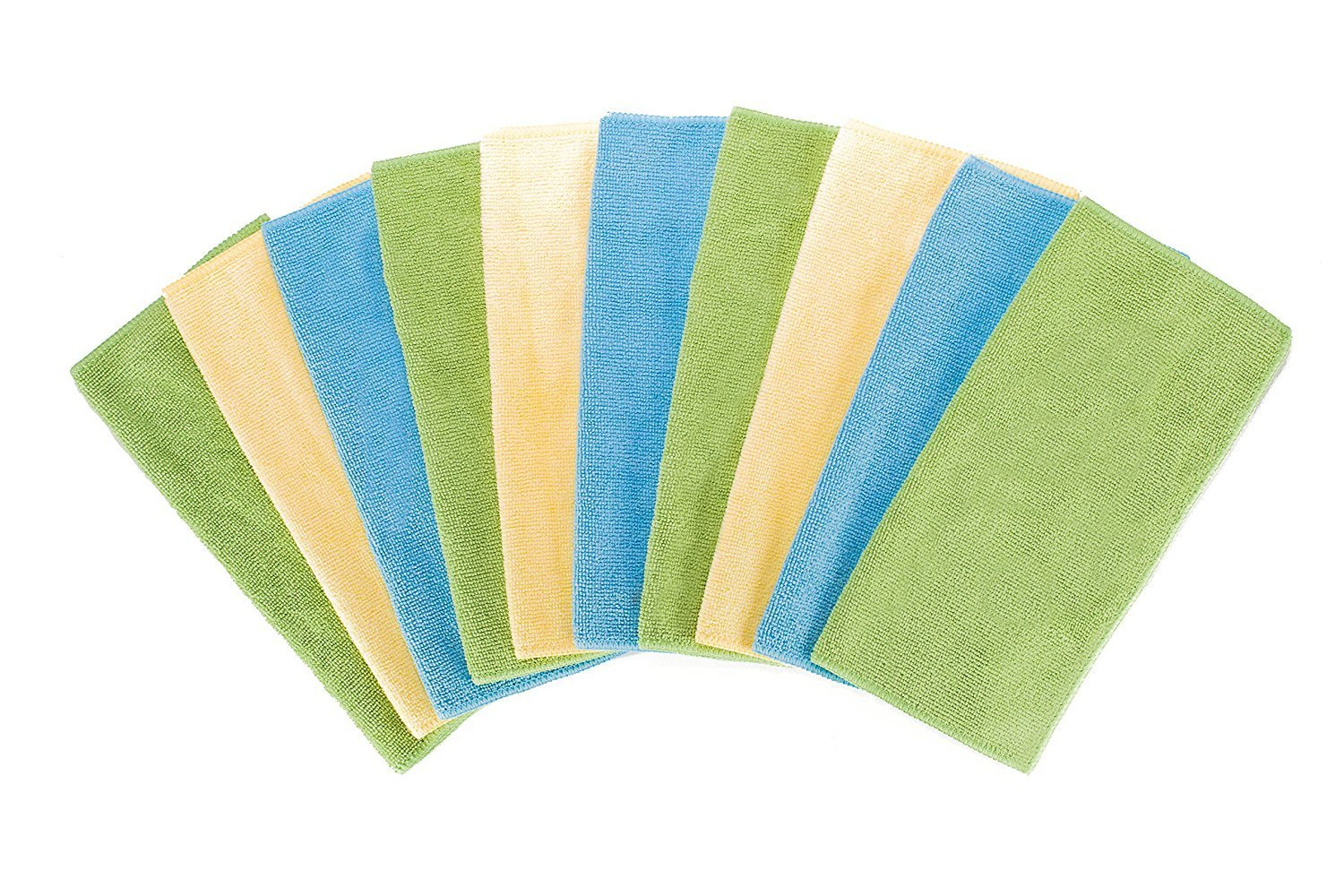 "Fuller Brush All-Purpose Microfiber Cleaning Cloths - Multicolored - Reusable Dusting, Washing & Wiping Cloths - Extra Large Size 16""x16"" Inches - 10 Pack"