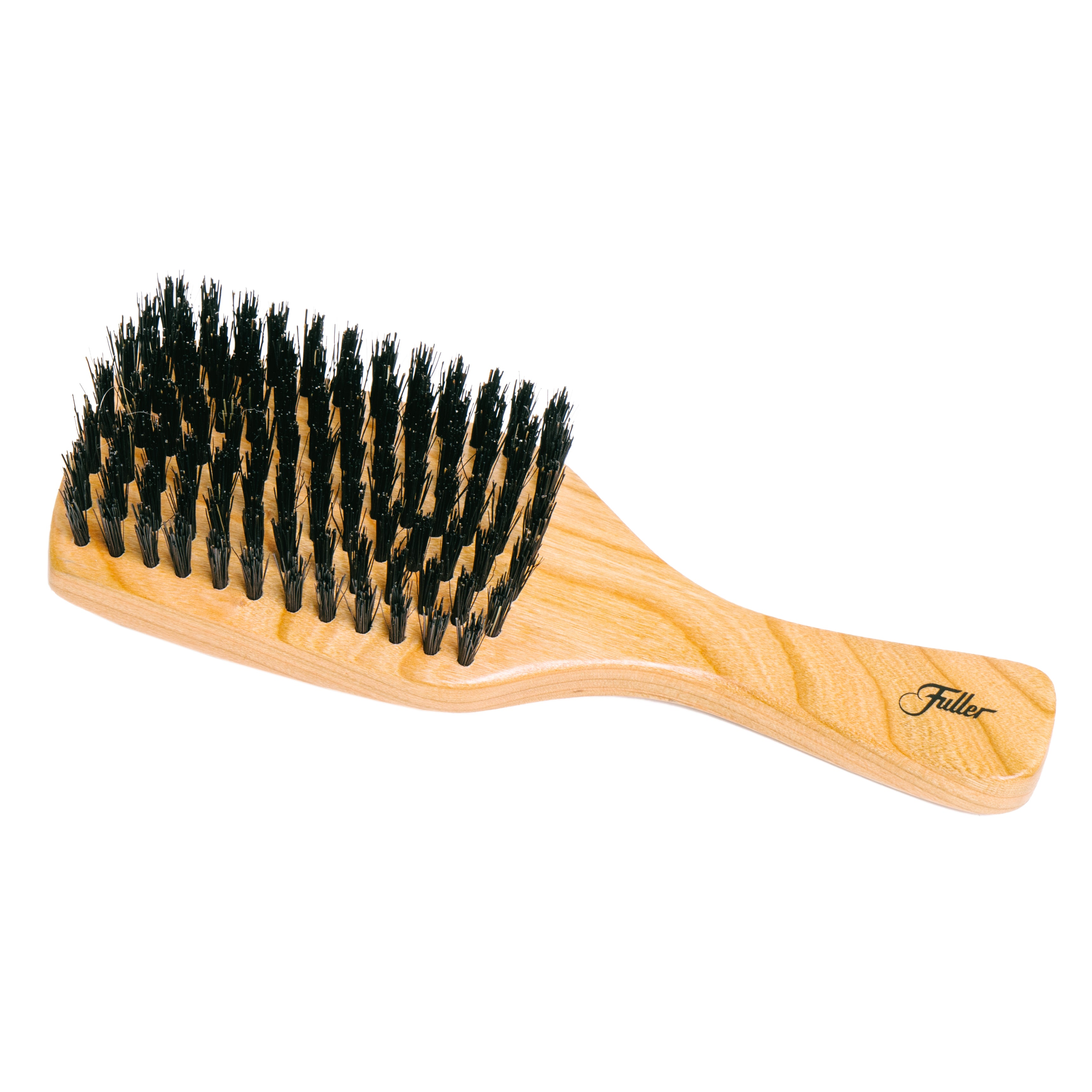 Cherry Club Wood Hairbrush with Natural Boars Hair Bristles