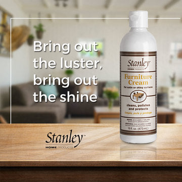 Furniture Cleaner & Polish for Light & Dark Wood, Liquid Cream - Wax Free