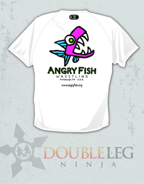 Angry Fish Wrestling Club - Cliff Keen MXS Loose Gear Shirt , Short - Cliff Keen, Double Leg Ninja - 1