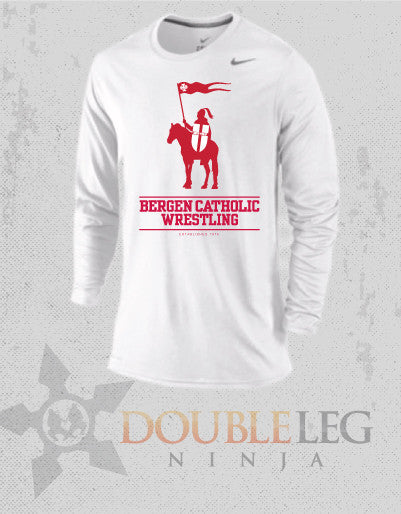 Bergen Catholic Alumni - Nike Legend Long Sleeve , Long Sleeve Shirt - Double Leg Ninja, Double Leg Ninja