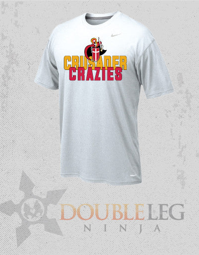 Bergen Catholic Youth Shirt - Crusader Crazies - Nike Legend Short Sleeve T-Shirt , Short Sleeve Shirt - Double Leg Ninja, Double Leg Ninja - 1