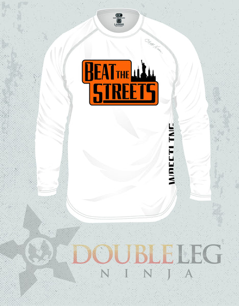 Beat the Streets NY - Cliff Keen MXS Loose Gear Long Sleeve , Long Sleeve Shirt - Double Leg Ninja, Double Leg Ninja - 1