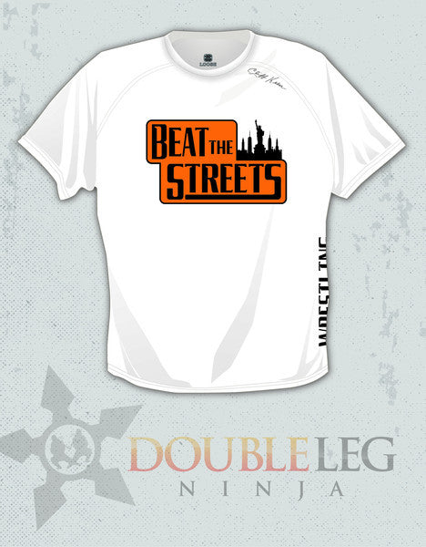 Beat the Streets NY - Short Sleeve T-Shirt Cliff Keen MXS Loose Gear , Long Sleeve Shirt - Double Leg Ninja, Double Leg Ninja - 1