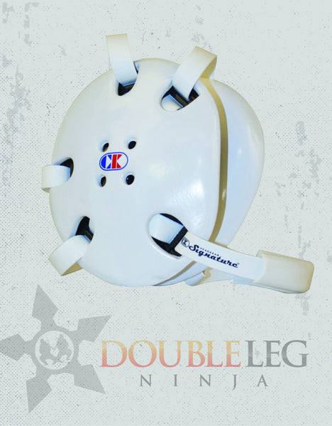 Cliff Keen Signature Headgear White, Headgear - Cliff Keen, Double Leg Ninja - 1