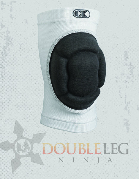The Impact™ White, Kneepad - Cliff Keen, Double Leg Ninja - 1