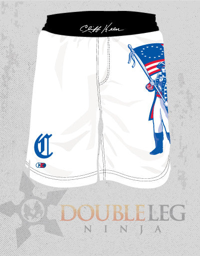 Carroll Patriots Wrestling Board Shorts - Cliff Keen , Board Shorts - Double Leg Ninja, Double Leg Ninja - 1