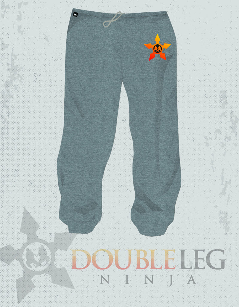 Double Leg Ninja High School Sweatpants - Cliff Keen Extreme Fleece , Sweatpants - Double Leg Ninja, Double Leg Ninja - 1