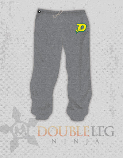 Dow High School Wrestling - Cliff Keen Extreme Fleece Sweatpants , Sweatpants - Double Leg Ninja, Double Leg Ninja - 1