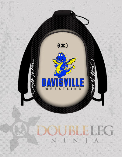 Davisville Wrestling - Cliff Keen Gear Bag , Custom Backpack - Double Leg Ninja, Double Leg Ninja
