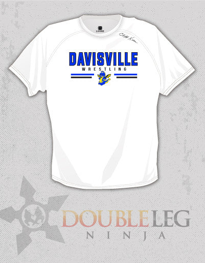 Davisville Wrestling - Short Sleeve T-Shirt Cliff Keen MXS Loose Gear , Long Sleeve Shirt - Double Leg Ninja, Double Leg Ninja
