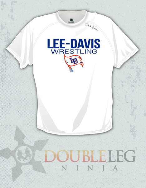Lee-Davis Wrestling - Cliff Keen Loose Gear Short Sleeve , Short Sleeve Shirt - Double Leg Ninja, Double Leg Ninja
