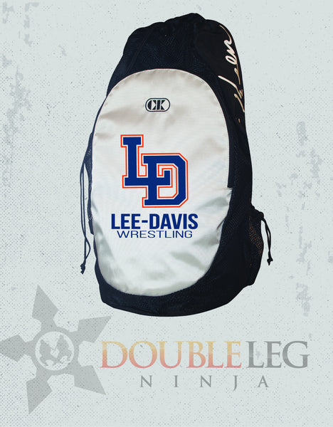Lee-Davis Wrestling - Cliff Keen Gear Bag , Custom Backpack - Double Leg Ninja, Double Leg Ninja
