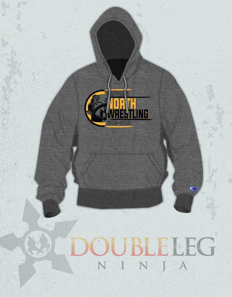 North Kingstown Wrestling Sweatshirt - Cliff Keen Extreme Fleece , Sweatshirt - Double Leg Ninja, Double Leg Ninja