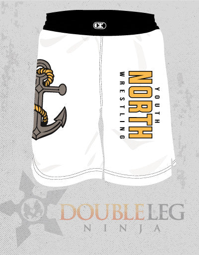 North Youth Wrestling Board Shorts - Cliff Keen , Board Shorts - Double Leg Ninja, Double Leg Ninja - 1