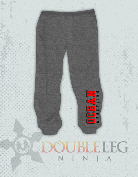 Ocean Youth Wrestling - Cliff Keen Extreme Fleece Sweatpants , Sweatpants - Double Leg Ninja, Double Leg Ninja - 1