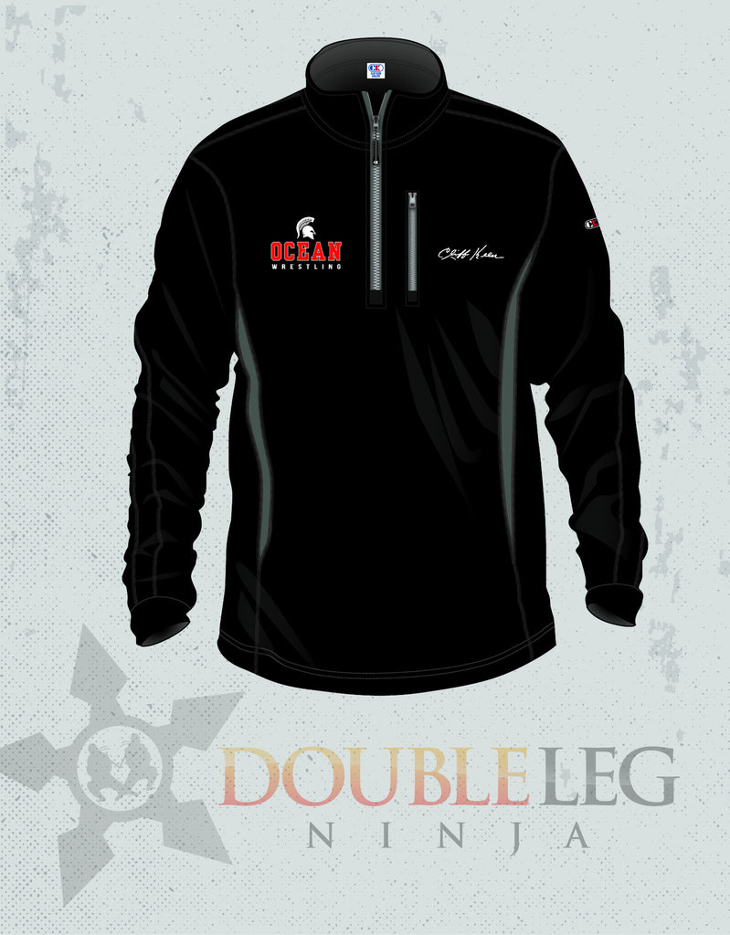 Ocean HIgh School Cliff Keen 1/4 Zip , Jacket - Double Leg Ninja, Double Leg Ninja
