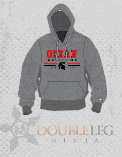 Ocean Youth Wrestling - Cliff Keen Extreme Fleece , Sweatshirt - Double Leg Ninja, Double Leg Ninja