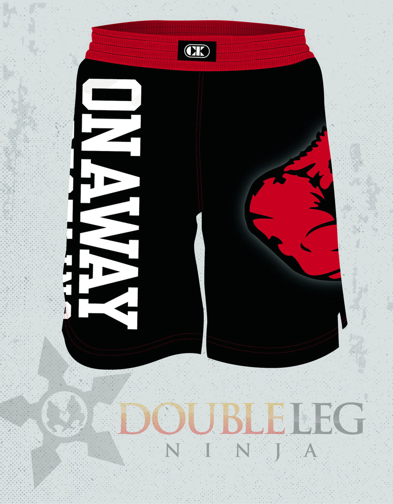 Onaway High School - Cliff Keen Board Shorts , Shorts - Double Leg Ninja, Double Leg Ninja - 1