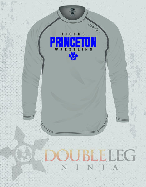 Princeton - Cliff Keen MXS Loose Gear Long Sleeve , Long Sleeve Shirt - Double Leg Ninja, Double Leg Ninja