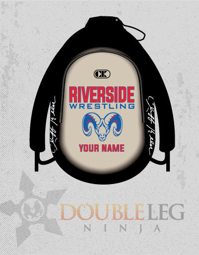 Riverside Wrestling - Cliff Keen Gear Bag , Custom Backpack - Double Leg Ninja, Double Leg Ninja