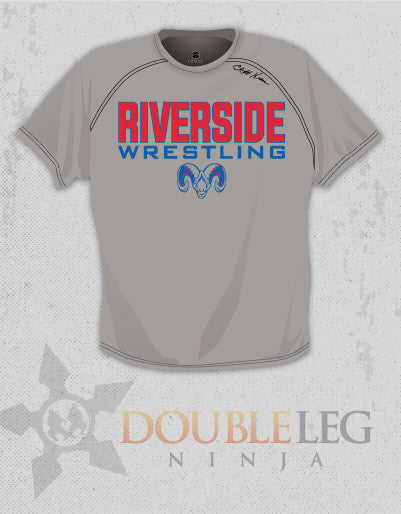 Riverside Wrestling - Short Sleeve T-Shirt Cliff Keen MXS Loose Gear (Grey)