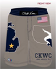 Cliff Keen Wrestling Club Fully Sublimated Board Short Small, Short - Cliff Keen Wrestling Club, Double Leg Ninja - 1