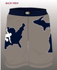 Cliff Keen Wrestling Club Fully Sublimated Board Short , Short - Cliff Keen Wrestling Club, Double Leg Ninja - 4