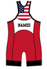Cliff Keen Lady Liberty Singlet , CK Branded - Cliff Keen, Double Leg Ninja - 2