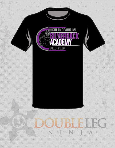 Silverback Academy - Short Sleeve Cotton Shirt , Long Sleeve Shirt - Double Leg Ninja, Double Leg Ninja