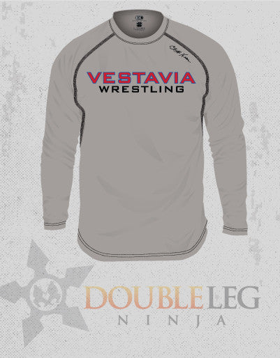 Vestavia Wrestling - Cliff Keen MXS Loose Gear Long Sleeve , Long Sleeve Shirt - Double Leg Ninja, Double Leg Ninja - 1